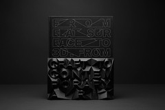 Flat surface to 3D. (NeMo ><((((*>) Tags: art book contemporary cover 3dprint typog frodina deniskuchta