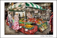 DOWN PARADiSE STREET (Derek Hyamson) Tags: fruit liverpool candid stall veg hdr shoppers paradisestreet