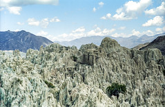 Bolivia, Valle de la Luna #3 (foto_morgana) Tags: travel sky southamerica clouds landscape outdoor scenic bolivia panoramic highland clay valledelaluna nikoncoolscan analogphotography mountainous analogefotografie vuescan bolivianandes travelexperience photographieanalogue