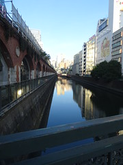 Morning in Akihabara (Shutter Chimp: Im back!) Tags: bridge reflection building japan river tokyo   akihabara