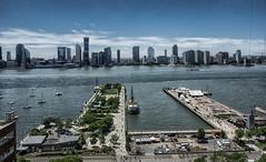 Westward view (C@mera M@n) Tags: park nyc newyorkcity sky ny newyork water skyline harbor pier us waterfront unitedstates outdoor manhattan places tribeca hudsonriver newjersy newyorkcityphotography