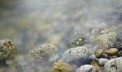 Rocks and Pebbles (Preston Ashton) Tags: ocean uk longexposure sea england water rock misty rocks long exposure waves pebbles pebble le murky prestonashton