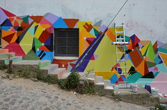 work in progress (Hayashina) Tags: chile window southamerica wall stairs valparaiso mural hww