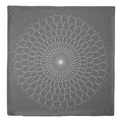 """Stick Spiral"" - Black & White Queen Size Duvet Cover (CMY-KEY) Tags: fun design bedroom decor homedecor bedding patterndesign cameronprather chicagodecor"