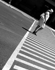 By crossing lines (pascalcolin1) Tags: blackandwhite woman black paris lines noir crossing noiretblanc femme streetview lignes contrastes photoderue urbanarte photopascalcolin