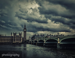 Stormy Parliament (Alex Chilli) Tags: bridge blue england sky cloud storm london tower clock westminster thames river grey evening fuji housesofparliament bigben stormy xa2 xmount
