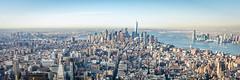 Manhattan Skyline (Malick) Tags: city travel winter usa newyork skyline america skyscraper lens photography nikon downtown unitedstates angle manhattan worldtradecenter wide sigma empirestatebuilding dslr 1020mm longislandcity uwa d5200