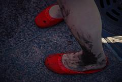 (Sameli) Tags: red shoe shoes foot feet zombie zombiewalk 2012 helsinki suomi finland