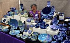 Rose Lee: An Urban(e) Potter (beppesabatini) Tags: california richmond bayarea artsandcrafts kpfa craftsfair artsfair cranewaypavilion 941kpfa 2ndannualkpfasummerartsfair2016 kpfasummerartsfair