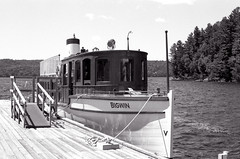 The Bigwin Moored_ (Bill Smith1) Tags: billsmithsphotography canonf1n daytrip fd50f14lens ilforddelta100 july2016 filmshooterscollective ontario muskoka hc110b