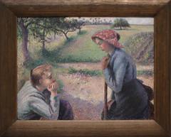 Camille Pissarro - Two Young Peasant Women 1891-92 (ahisgett) Tags: new york art museum met metropolitian