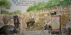 Poemes de Kavafis (Fotero) Tags: watercolor recital poesia acuarela dibujo usk emporda cuaderno empuries poemes urbansketching urbansketch urbansketcher cuaderno9