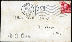 1908_Apr_Marie_to_Elsie_Binger_env (Max Kade Institute for German-American Studies) Tags: westphal family familie genealogy middleton handwriting script cursive letter brief elsabinger elsebinger elsiebinger binger elsiebuenger elsabuenger elsebuenger buenger marie
