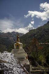 Stupa agaianst Himalayas (Adept Photography) Tags: nepal stupa monastery nepalese yaks everest himalayas 2016 tengboche stupas