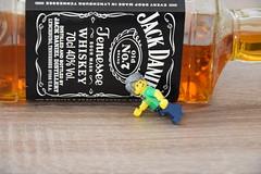 Lego drunk man (Alex THELEGOFAN) Tags: lego drunk man real life bottle alcool