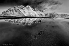 Vestrahorn Iceland (EtienneR68) Tags: blackandwhite mountain reflection nature water montagne landscape iceland nikon eau reflet paysage islande vestrahorn d810