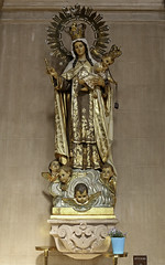 Our Lady of Mount Carmel (Lawrence OP) Tags: sanfrancisco brown statue carmel scapular jesuschrist ourlady carmelite