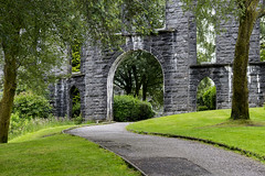 L'entrée de la McCaig's Tower