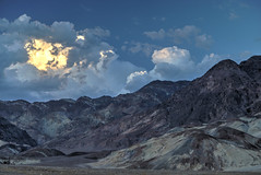 As dusk sets in Death Valley (stormy night) (fmoth22) Tags: blue sky sun mountains landscape death dusk valley silica