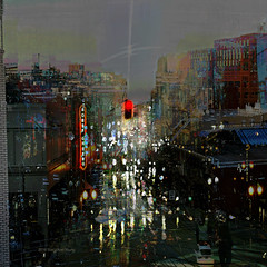 Convinced of the Hex (Stacy Ann Young) Tags: portland cityscape nightlights dream pdx photocomposite