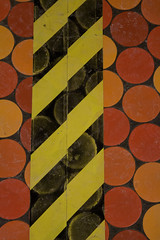 Stripes on Dots (Bloui) Tags: orange lines yellow subway floor circles stripes mtro january dots lionelgroulx 2013 rebelxti
