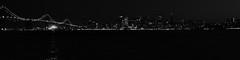 ADS_USA_000002288-BW-panoramic (dickysingh) Tags: ocean sanfrancisco california travel bridge blackandwhite panorama usa monochrome night america lights evening downtown tour pacific baybridge westcoast oaklandbaybridge wwwranthambhorecom