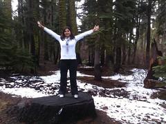 ayer saliendo del Lago Tahoe rumbo a Yosemite Park. Le quisimos entrar por el este y le dimos toooda la vuelta para entrar por el oeste (muucho kilómetros pero lo logramos, jeje)