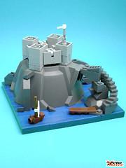 FortRock (ZetoVince) Tags: castle rock greek lego fort vince micro vignette npu zeto zetovince