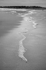 Beach Line (Always Smiling) Tags: sea blackandwhite beach maine newengland ogunquit leadinglines