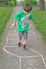 Catch Hopscotch II (Catcher & Co.) Tags: oregon portland newspaper chalk hopscotch catcher hopscotchcourse