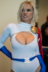 Power Girl Striking A Pose (YorkInTheBox) Tags: comics cosplay dccomics powergirl 2013 longbeachcomicexpo