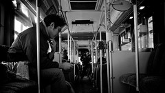 On the Bus (Raymond__Lin) Tags: street people bw canada bus vancouver fuji candid fujifilm x100