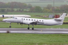 N955BW Swearingen SA.227DC Metro 23 EP Aviation Prestwick 12.05.13 (wobblybob33) Tags: scotland metro aviation presidential 23 airways ep prestwick pik sw4 ayrshire swearingen metroliner egpk sa227dc appliediwatermarkwatermark n955bw dc821b