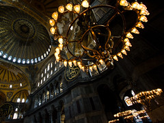 Istanbul - Hagia Sophia (Markus Hill) Tags: city travel church monument canon turkey interior istanbul mosque unesco trkei hagiasofia 2013