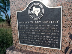 Hoover's Valley Cemetery (Lens_Wide_Open) Tags: cemetery texas country hillcountry historicalmarker texashillcountry llanocountytexas hooversvalleycemetery