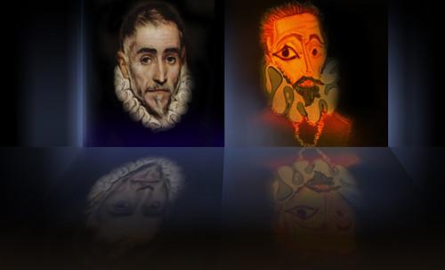 """Hidalgo Ibérico, expresión de Doménikus Theokópoulos el Greco (1597), transcripción de Pablo Picasso (1971). • <a style=""""font-size:0.8em;"""" href=""""http://www.flickr.com/photos/30735181@N00/8747933474/"""" target=""""_blank"""">View on Flickr</a>"""