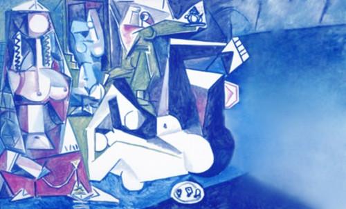 """Odaliscas (Mujeres de Argel) yuxtaposición y deconstrucción de Pablo Picasso (1955), síntesis de Roy Lichtenstein (1963). • <a style=""""font-size:0.8em;"""" href=""""http://www.flickr.com/photos/30735181@N00/8748002428/"""" target=""""_blank"""">View on Flickr</a>"""