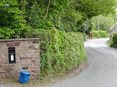 Discontinued Wall Box Treherbet Road, Llandegveth, Nr Cwmbran 21 May 2013 (Cold War Warrior) Tags: postoffice royalmail wallbox