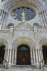Sacred Heart Church (Flint Foto Factory) Tags: county city urban house classic church beautiful architecture stairs way tampa spring worship stair downtown place heart florida gothic columns may entrance ave sacred intersection neo twiggs 509 hillsborough 2013 nflorida