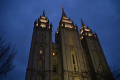 The Church of the Mormons (rohitNarang) Tags: building church night temple worship faith landmark mormon slc sana rohit