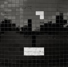 Tiles, Abandoned Restaurant, Portland (austin granger) Tags: reflection abandoned film square portland restaurant time geometry decay perspective illusion tiles vacant math pixels tetris gf670 austingranger
