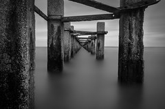 Outer Limits (Scott Baldock Photography) Tags: sea england blackandwhite bw london thames mono pier seaside nikon long exposure jetty boom estuary ww2 riverthames essex southend shoeburyness defence lightroom southendonsea southchurch shoebury nd110 nd106