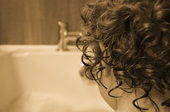 BATH TIME (simongavin83) Tags: boy blackandwhite wet hair bath head curls taps faceless bathing odc facelessportrait ourdailychallenge nikond5100