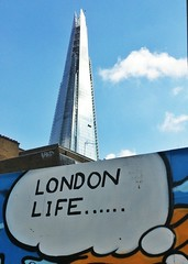 London Life...mural with the Shard in the background (35mmMan) Tags: life london architecture mural thought urbanart bubble borough shard southwark se1 londonlife londonist theshard flickrandroidapp:filter=none