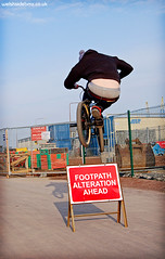 Paul Osullivan sign hop, Cardiff Bay