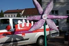 Infostand in Lohburg mit Inas Blume