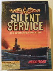 Silent Service (2nd Revision) (dustlayer) Tags: ntsc disk c64 frontcover commodore64