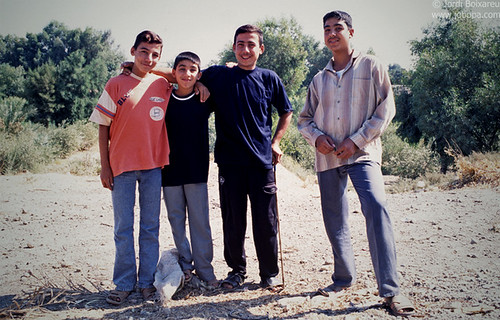 A group of friends pose for the photo in Deir ez-Zor, Syria (2005).