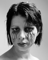 Bloody Mary 16 (Daysleeper40) Tags: portrait selfportrait halloween self mono blood eyes gore horror bloody bloodymary