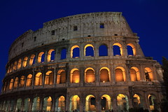 Colise - Rome - Italie (Micky75017) Tags: voyage trip travel viaje italien blue light ital